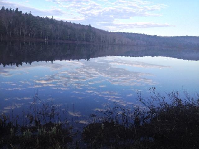 A New Englander lake reflection