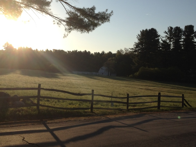 A New Englander morning farm