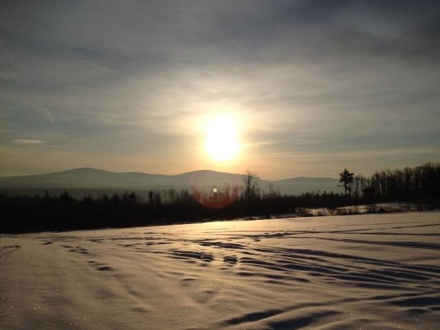 A New Englander winter scene