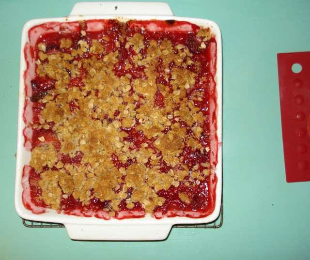 strawberr7 rhubarb crisp