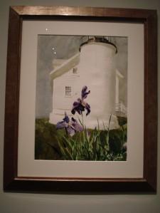 lighthouse and iris