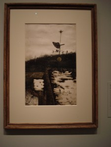 An oil painting done at age 13. Wyeth climbed to the top of the tower to get this perspective.