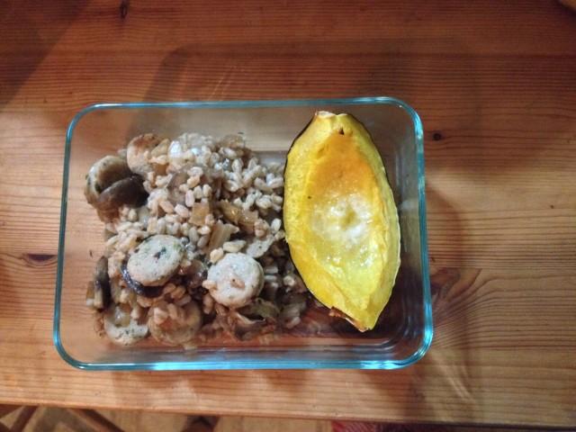 acorn squash with farro