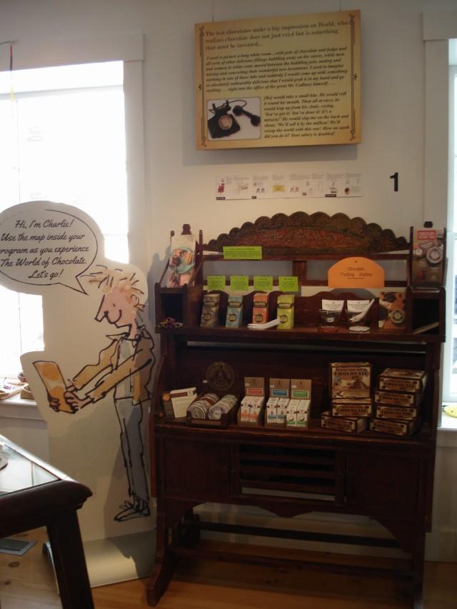 gift shop chocolate display